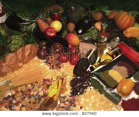Постер, плакат: органические продукты питания, холст на подрамнике