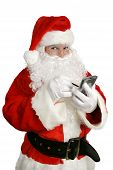 Santa Clause With Personal Computer