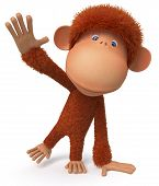 Cheerful, Red Monkey