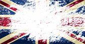 Great Britain flag. Grunge background. Vector illustration