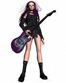Goth Girl Guitarist -