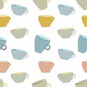 seamless background of mugs