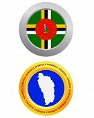 Button As A Symbol Dominica