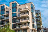 Apartment buildings in Hamburg