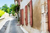 Provencal Street With Typical Houses In Southern France, Provence.