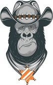 stock photo of gorilla  - Vector illustration - JPG