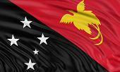 pic of guinea  - 3D flag of Papua New Guinea with fabric surface texture - JPG