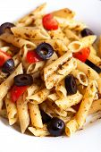 Penne with cherry tomatos