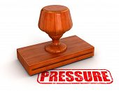 Rubber Stamp pressure (clipping path included)