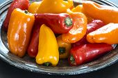 picture of pepper  - Bell pepper also known as sweet pepper or a pepper capsicum - JPG