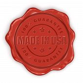 Wax Stamp Made in USA (clipping path included)