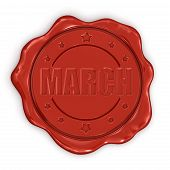 Wax Stamp march (clipping path included)