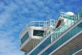 Cruise travel ship, detail