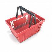 Shopping Plastic Basket Red
