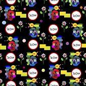 Funny Snails Mosaic Pattern