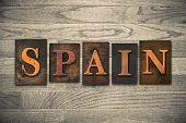 Spain Wooden Letterpress Concept
