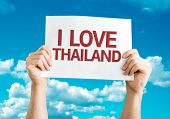 I Love Thailand card with sky background