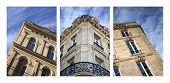 stock photo of bordeaux  - Collage of stylish French buildings in Bordeaux - JPG