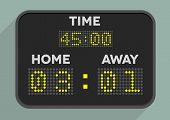 picture of countdown timer  - minimalistic illustration of a sports scoreboard - JPG