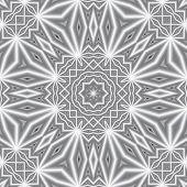 Rectangular Decorative Black And White Ornament