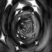 Starry Monochormatic 3D Tunnel