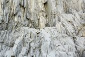 Rock Texture On Cliff