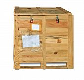 Woden crate with equipment