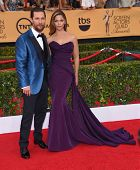 LOS ANGELES - JAN 25:  Matthew McConaughey & Camila Alves arrives to the 21st Annual Screen Actors Guild Awards  on January 25, 2015 in Los Angeles, CA