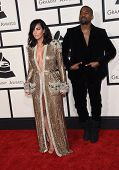 LOS ANGELES - FEB 08:  Kanye West & Kim Kardashian arrives to the Grammy Awards 2015  on February 8, 2015 in Los Angeles, CA