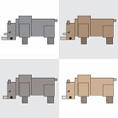 symbol icon rectangle animal rhinoceros