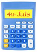 Calculator With 4Th July