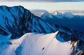 Magnificient Sunrise On Stok Kangri Mountain During Ascend To The Peak, Ladakh, Himalayas