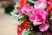 Artificial Pink Rose Bouquet