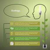 Template infographic. Concept of renewable energy
