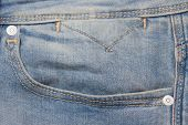 Fancy Washed Blue Jeans Pocket