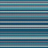 Striped Knitting Pattern. Seamless Background