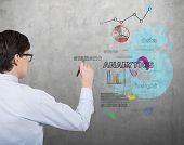 Businessman Drawing Analytics