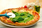 ITALIAN Pizza With Pesto Sauce