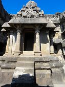 picture of ellora  - View at heritage Ellora Caves in India - JPG