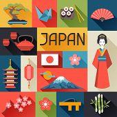 stock photo of japanese flag  - Japan background design - JPG