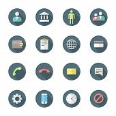 color flat style various social network icons set