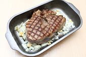 Blade Steak In Baking Dish