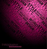 Abstract Dark Typography Background