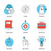 Creative Design Elements Line Icons Set