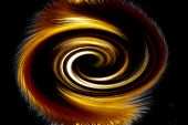 picture of fiery  - Beautiful bstract fiery circle on a black background - JPG
