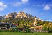 image of bavaria  - Bavaria landscape at Grainau and Zugspitze top of Germany - JPG