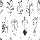 stock photo of feathers  - Vector feather background - JPG