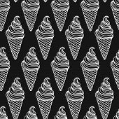 picture of ice cream sundaes  - Vector ice cream background - JPG