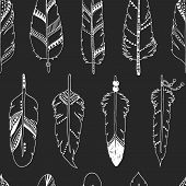 image of feathers  - Vector feather background - JPG