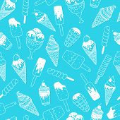 stock photo of ice cream sundaes  - Vector ice cream background - JPG